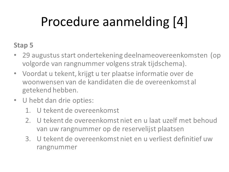 Procedure aanmelding [4]